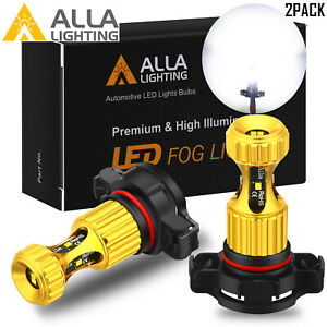 Alla Lighting Psx24w Led Fog Driving Light Lamp Bulb Lh Rh Pair For Dodge Jeep