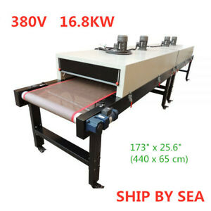 380v 16 8kw Conveyor Tunnel Dryer 18ft X 25 6 Belt For Screen Printing By Sea