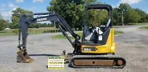 2014 John Deere 35g Mini Excavator 3142 Hours New Tracks Nice Machine