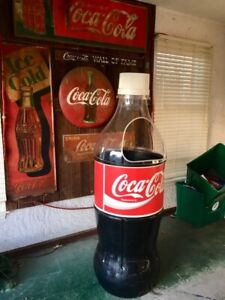 LARGE(5.5') COCA COLA BOTTLE COOLER COKE ADVERTISING STORE DISPLAY ICE CHEST