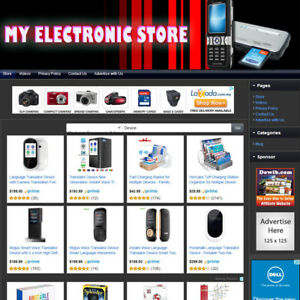 Electronic Store Established Affiliate Website For Sale Free Domain