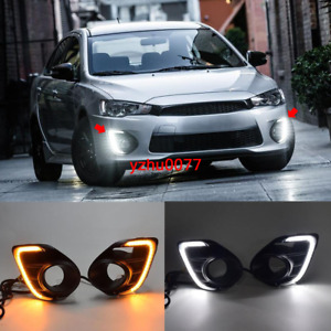 2016 2017 For Mitsubishi Lancer Led Daytime Running Light Drl Front Fog Light