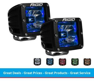 Rigid Radiance D Series Pod Light Kit With Blue Back Light Surface Mount Pair