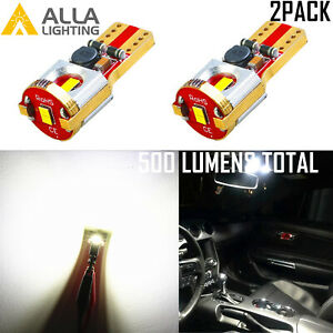 Alla White Led Tag Bulb License Plate Light Lamp For F150 Ranger Explorer Bronco