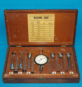 Tiplor Groove Gage Set 240 1 252 Range With Starrett Dial Indicator