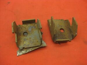 1965 1966 Chevy Impala Ss 2 Dr Ht Convertible Rear Seat Mounting Brackets 7600