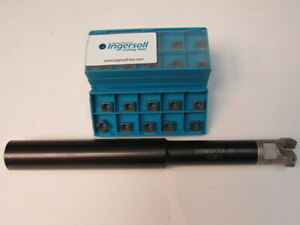 Lot Of 60 Shlt090408n Coated Ingersoll Insert With 1 Indexable End Mill
