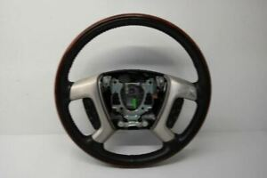 2009 2014 Cadillac Escalade Leather Heated Steering Wheel Woodgrain