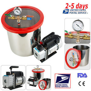 5 Gallon Stainless Steel Vacuum Chamber Kit Degassing W Non stick Silicone Pad