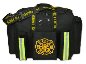 Personalized First Responder Fireman Xl Step in Turnout Fire Gear Bag Black