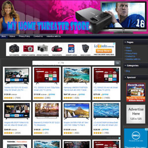 Television Store Online Affiliate Business Website For Sale With Free Domain