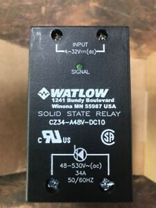 Watlow Solid State Relay Cz34 a48v dc10