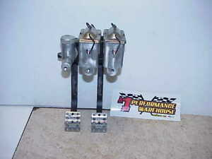 Wilwood Hanging Dual Reverse Mount Clutch Brake Pedals Master Cylinders F1