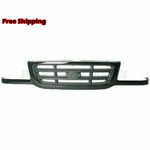 New Fits 2001 2003 Ford Ranger Front Grille Painted Black 3l5z8200aa Fo1200393