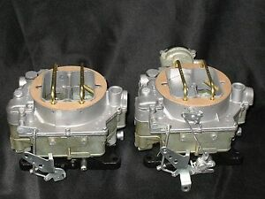 1957 1961 Dual Quad Carter Wcfb Clone Carburetors Corvette Chevy 283 245hp