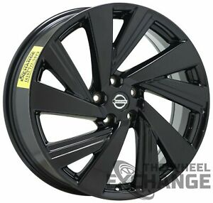 20 Nissan Murano Black Wheels Rims Factory Oem 2016 2017 2018 2019 62707 X1