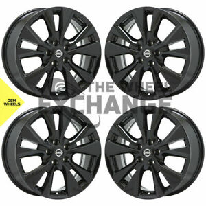 18 Nissan Murano Black Wheels Rims Factory Oem 2015 2020 Set 4 62706