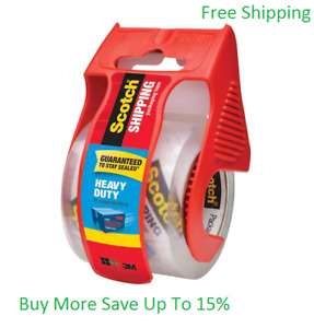 2 pack Clear Packing Tape Scotch Shipping 2 in X 22 22 yard
