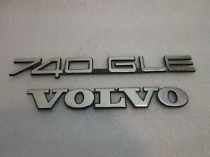 Volvo 740 Gle Trunk Emblem Logo Badge Sign Symbol