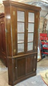 Antique 1800 S Pine Corner Cabinet Hand Made Well Made Beautiful
