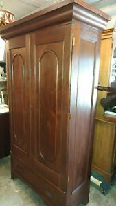Antique Solid Walnut Wardrobe Armoir 1800 S Made Solid And Beautiful
