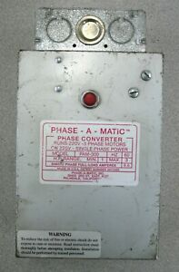 Phase a matic Pam 300 Phase Converter 1 3hp 220v