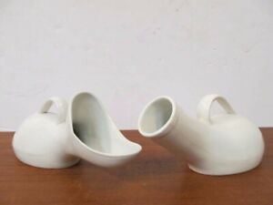 Rare 1900 S Antique His And Hers Porcelain Urinals Hospital Medical Equipment