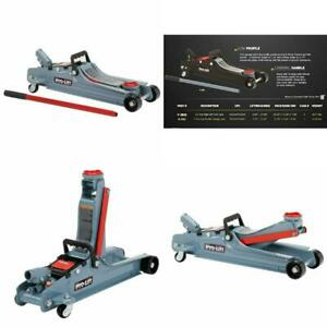 Low Profile Floor Jack 3 1 2 To 14 Inch Lifting Range Heavy Duty 2 Ton Capacity
