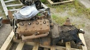 Ford Flathead 8 Cylinder Engine Motor Transmission Shipping Included