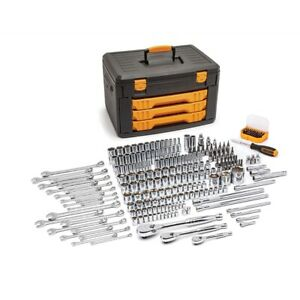 Gearwrench 243 Piece Tool Set With 6 Point Socket 1 4 3 8 1 2 Drive New