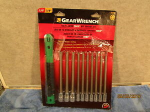 Gearwrench 80588d 10 Piece Long Torx Bit Socket Set 1 4 And 3 8 Drive New