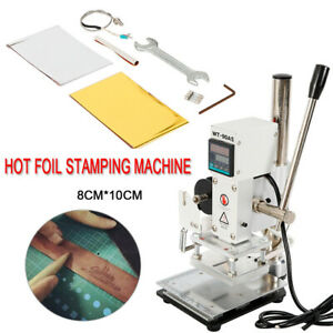Manual Digital Hot Foil Stamping Machine Wt 90as Leather Stamping Wooden Crafts