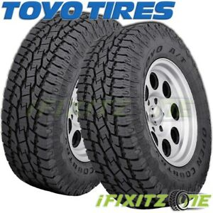 2 Toyo Open Country A T Ii Lt285 75r16 10 Owl 126r On Off Road All Terrain Tires