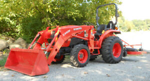 Kubota L3301 With Land Pride Fdr1672 Finish Mower Only 462 Hours