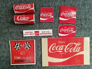 Vintage Coca Cola Sticker/Decal Lot of 8