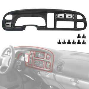 Dash Board Bezel W Vents For Dodge Ram 1998 99 00 2001 Ram 1500 2500 3500