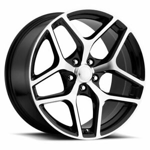 Factory Reproductions Fr 27 Z28 Camaro 20x11 5x120 Offset 43 Blk Mach qty Of 4