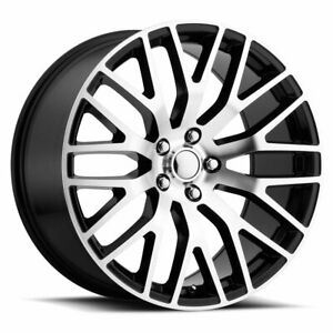 Factory Reproductions Fr 54 Mustang Perf 20x10 5x114 3 Et48 Blk Mach Qty Of 4