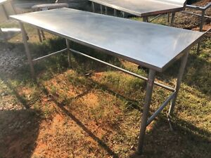 Heavy Duty 72 X 30 Commercial Stainless Steel Prep Work Table Island Rounded