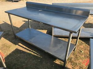 Heavy Duty 72 X 30 Commercial Stainless Steel Prep Work Table W bottom Shelf
