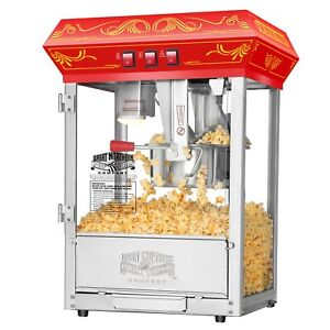 Great Northern Popcorn Red Good Time Popcorn Popper Machine 8 Ounce