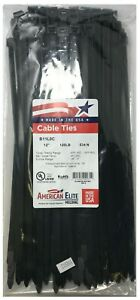 500 Black 12 Inch Nylon Heavy Duty Cable Wire Wrap Zip Ties 120 Lbs Usa Made