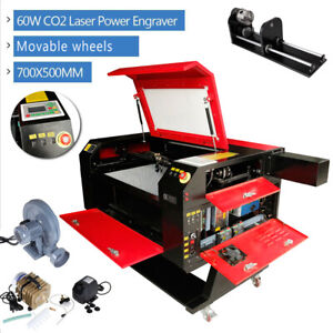 60w Co2 Laser Engraving Cutting Machine Engraver Cutter Irregular Rotary Axis