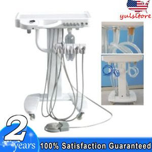 Portable Dental Delivery Treatment Cart Unit Mobile 4 hole With Weak Suction