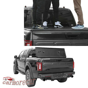 5 5ft Short Bed Tri Fold Tonneau Cover Lock Hard Solid For Ford F150 2015 2018