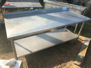 Heavy Duty 72 X 32 Commercial Stainless Steel Prep Work Table W Bottom Shelf