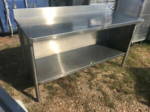 M e Heavy Duty 60 X 24 Commercial Stainless Steel Prep Work Cabinet Table