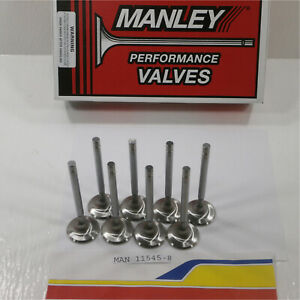 Manley 11545 8 Exhaust Valves Small Block Chevy 1 600 H 3415 S 100 Long 5 065