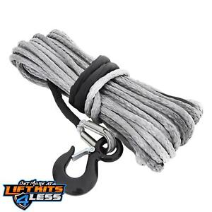 Smittybilt 97715 Gray 15000 Ib 92 Foot Xrc Synthetic Winch Rope All Non spec