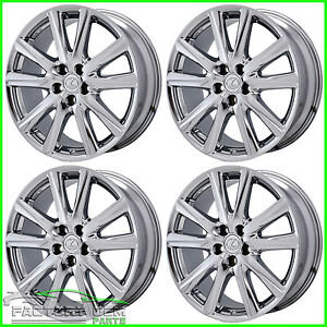 19 Chrome Lexus Wheels Staggered Gs F Sport Rims 2015 2016 Factory Oem 19x8 9